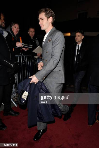 Andrew Garfield seen attending the Charles Finch PreBAFTA Party at Loulou's on February 09 2019 in London England
