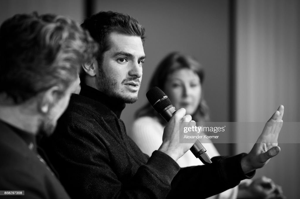 Andrew Garfield speaks at the 'Breathe' press conference during the 13th Zurich Film Festival on October 6, 2017 in Zurich, Switzerland. The Zurich Film Festival 2017 will take place from September 28 until October 8.