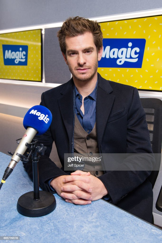 Andrew Garfield visits Magic Radio at Magic Radio Studio on October 24, 2017 in London, England.