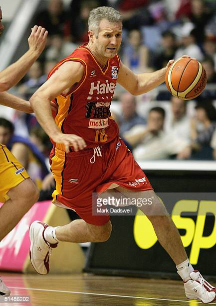 Andrew Gaze for the Tigers in action during the NBL round 3 game between the Melbourne Tigers and the Sydney Kings at the State Netball and Hockey...