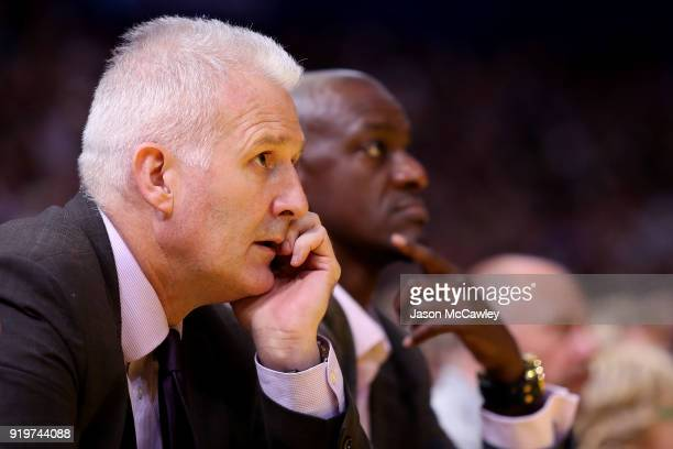 Andrew Gaze head coach of the Kings during the round 19 NBL match between the Sydney Kings and the New Zealand Breakers at Qudos Bank Arena on...