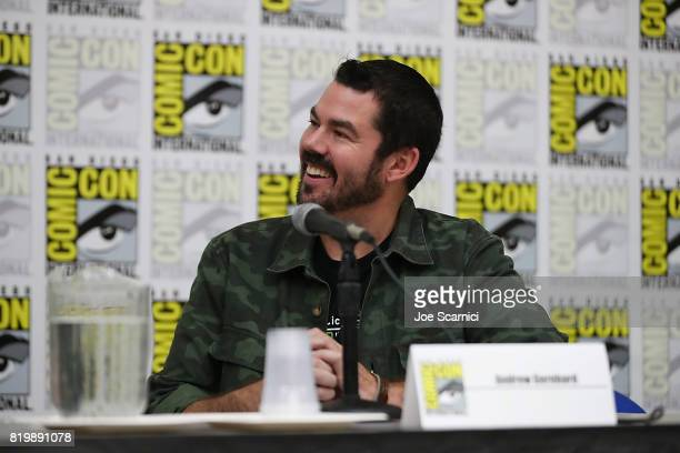Andrew Gernhard speaks onstage during Lifetime's Watcher in the Woods panel at San Diego Comic Con 2017 at San Diego Convention Center on July 20...