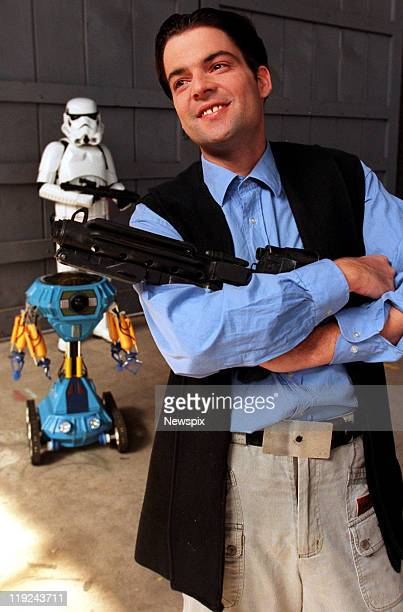 Andrew Gibson brother of actor Mel Gibson poses ahead of his cameo appearance in the Star Wars short film Dark Redemption on February 12 2004 in...