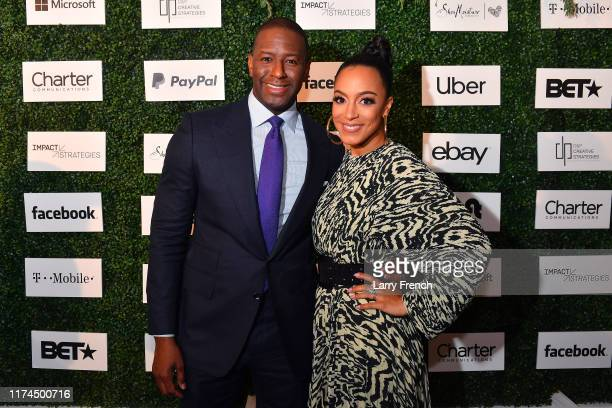 Andrew Gillum and Angela Rye appear at IMPACT Strategies and DP Creative Strategies 2nd Annual Tech Media Brunch celebrating Congressional Black...