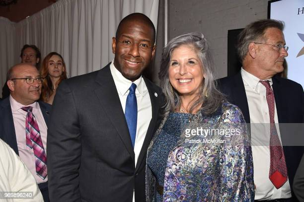 Andrew Gillum and Joan Hornig attend the HELP USA Heroes Awards Gala at the Garage on June 4 2018 in New York City