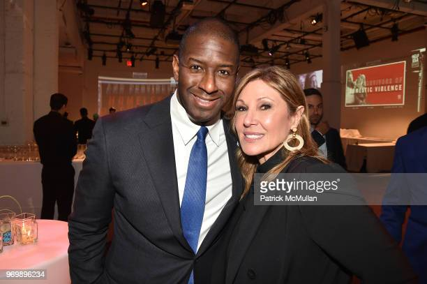 Andrew Gillum and Maria Cuomo Cole attend the HELP USA Heroes Awards Gala at the Garage on June 4 2018 in New York City