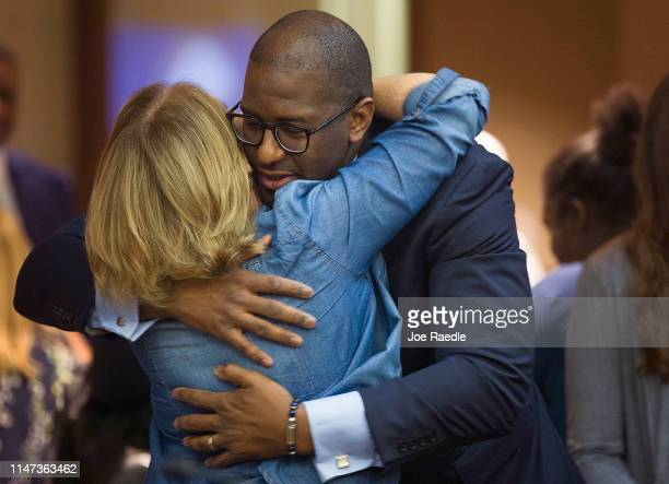 Andrew Gillum Forward Florida Chair is greeted before speaking during The Elections Subcommittee field hearing on 'Voting Rights and Election...