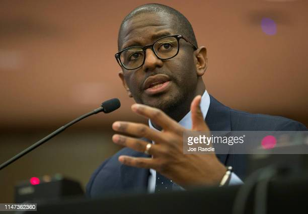 Andrew Gillum Forward Florida Chair speaks during The Elections Subcommittee field hearing on 'Voting Rights and Election Administration in Florida'...