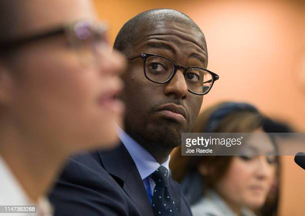 Andrew Gillum Forward Florida Chair waits to speak at the Elections Subcommittee field hearing on 'Voting Rights and Election Administration in...