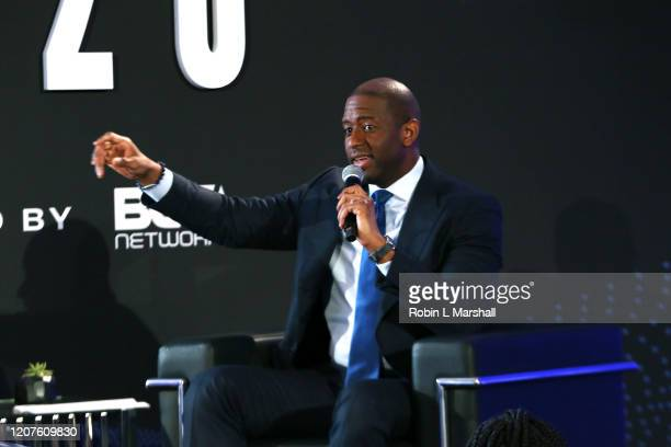 Andrew Gillum speaks onstage during META – Convened By BET Networks at The Edition Hotel on February 20 2020 in Los Angeles California