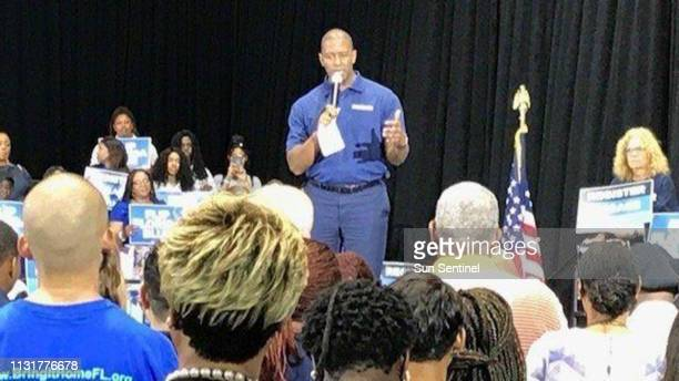 Andrew Gillum unsucessful 2018 Democratic nominee for Florida governor kicks off a statewide voter registration and engagement effort at a rally at...
