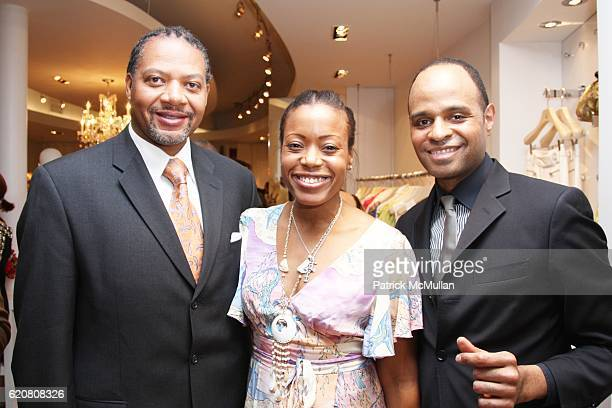 Andrew Givens Tracy Reese and Steven Moore attend TRACY REESE Secret Garden Party at Tracy Reese Boutique on March 27 2008 in New York City