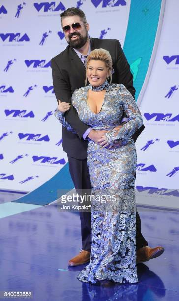 Andrew Glennon and Amber Portwood arrive at the 2017 MTV Video Music Awards at The Forum on August 27 2017 in Inglewood California
