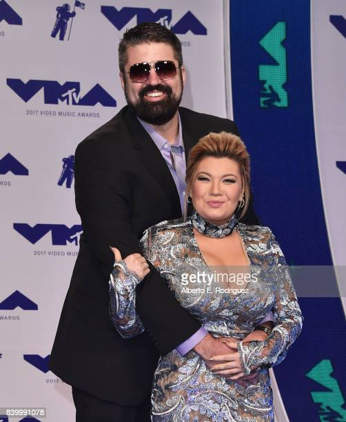 Andrew Glennon and Amber Portwood attend the 2017 MTV Video Music Awards at The Forum on August 27 2017 in Inglewood California