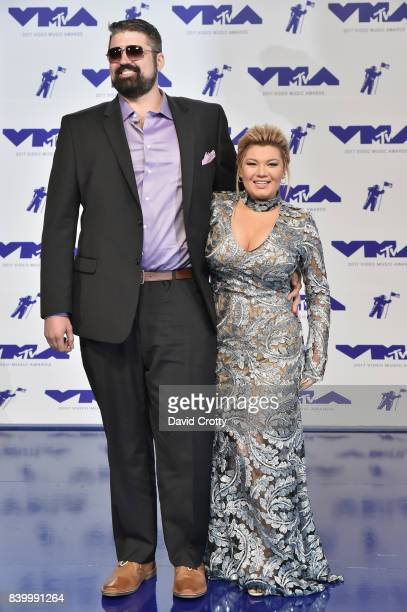Andrew Glennon and Amber Portwood attends the 2017 MTV Video Music Awards at The Forum on August 27 2017 in Inglewood California