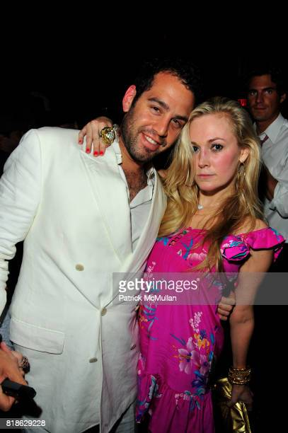 Andrew Goldberg and Dabney Mercer attend AVENUE One Year Anniversary at AVENUE NYC on June 23 2010