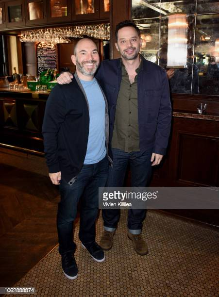 Andrew Goldberg and Nick Kroll attend the Heineken Green Room during Vulture Festival presented by ATT at Hollywood Roosevelt Hotel on November 17...
