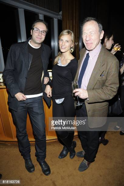 Andrew Goldstein Lily Lyons and Anthony HadenGuest attend the Cocktail Reception with Casa Dragones Tequila to Celebrate THE ARMORY SHOW's 2011...