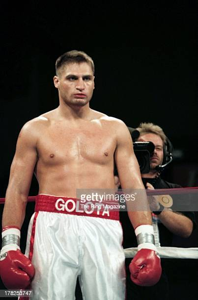 Andrew Golota gets ready in the ring against Jason Waller at the Convention Center Atlantic City New Jersey