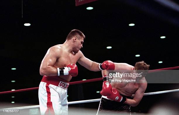 Andrew Golota lands a punch against Jason Waller at the Convention Center Atlantic City New Jersey
