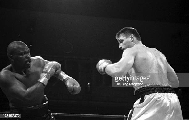Andrew Golota looks to throw a punch against Michael Grant during the fight at Trump Taj Mahal in Atlantic City New Jersey Andrew Golota won the NABF...