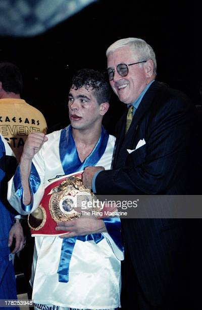 Andrew Golota poses with his belt after the fight against Lennox Lewis at Caesar's Hotel Casino Atlantic City New Jersey Andrew Golota won the WBC...