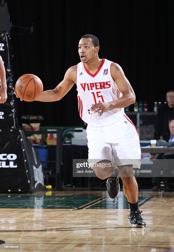 Andrew Goudelock #15 of the Rio Grande Valley Vipers dribbles the ball against the Fort Wayne Mad Ants during the 2013 NBA D-League Showcase on January 9, 2013 at the Reno Events Center in Reno, Nevada.