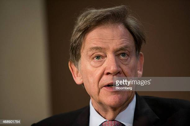 Andrew Gould chairman of BG Group Plc speaks during a news conference at the London Stock Exchange following his company's takeover by Royal Dutch...
