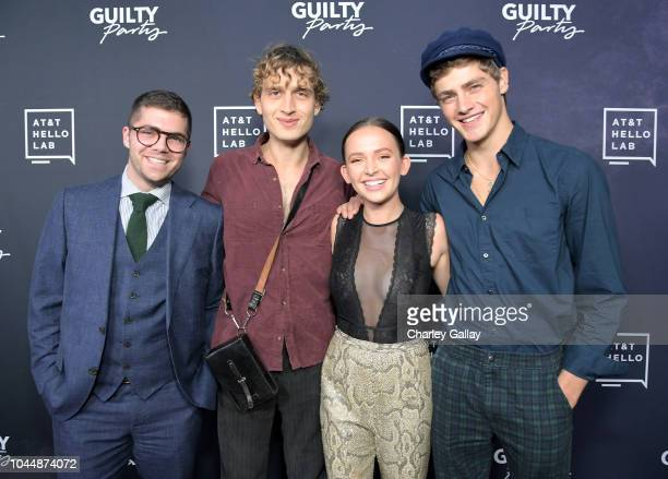 Andrew Graham Andrew Lowe Alexis G Zall and Steffan Argus attend the 'Guilty Party History of Lying' Season 2 premiere at ArcLight Cinemas on October...