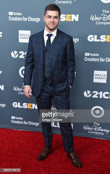 Andrew Graham arrives at the GLSEN Respect Awards at the Beverly Wilshire Four Seasons Hotel on October 19 2018 in Beverly Hills California