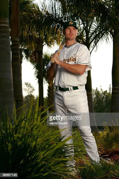 Andrew Graham of Team Australia poses for a photo on March 4, 2006 at City of Palms Park in Ft. Myers, Florida. Team Australia will be competing in...
