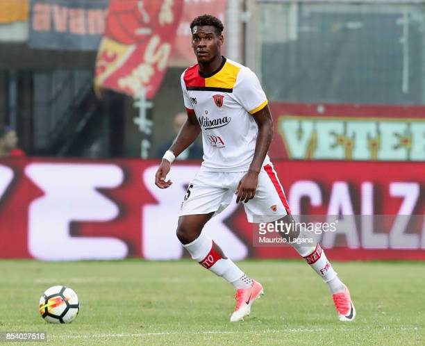 Andrew Gravillon of Benevento during the Serie A match between FC Crotone and Benevento Calcio at Stadio Comunale Ezio Scida on September 24 2017 in...