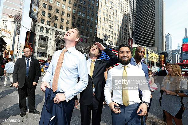 Andrew Greenwell Justin Fichelson Roh Habibi and guests ring the Nasdaq Stock Market opening bell celebrating the Million Dollar Listing San...