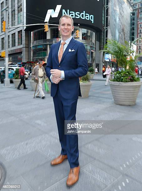 Andrew Greenwell rings the Nasdaq Stock Market opening bell celebrating the Million Dollar Listing San Francisco during opening bell at NASDAQ...