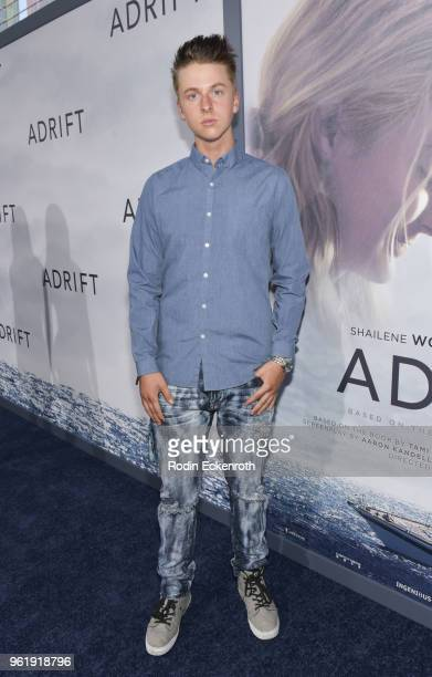 Andrew Gregory arrives at the premiere of STX Films' 'Adrift' at Regal LA Live Stadium 14 on May 23 2018 in Los Angeles California