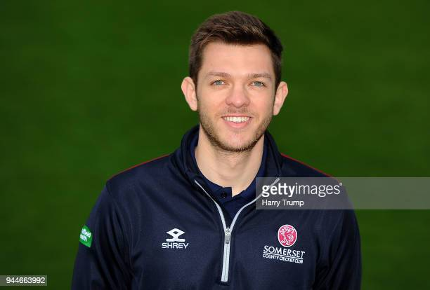 Andrew Griffiths Performance Analyst of Somerset CCC during the Somerset CCC Photocall at The Cooper Associates County Ground on April 11 2018 in...