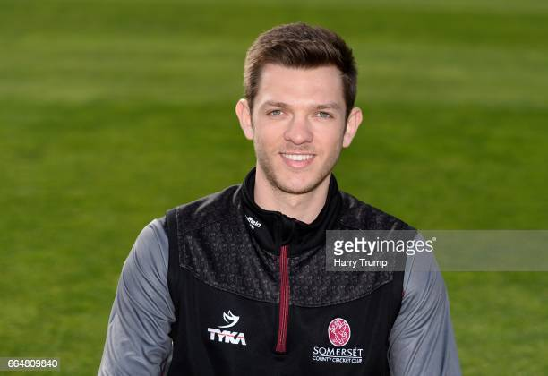 Andrew Griffiths Performance Analyst of Somerset Cricket during the Somerset CCC Photocall at The Cooper Associates County Ground on April 5 2017 in...