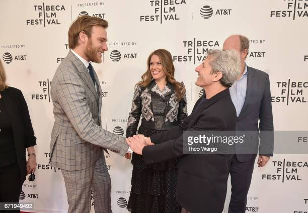 Andrew Haggiag Alexandra Dean and Buddy Squires attend 'Bombshell The Hedy Lamarr Story' Premiere during the 2017 Tribeca Film Festival at SVA...
