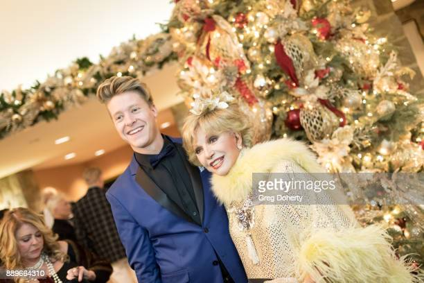Andrew Hahn and Actress Ruta Lee attend The Thalians Hollywood for Mental Health Holiday Party 2017 at the Bel Air Country Club on December 09 2017...