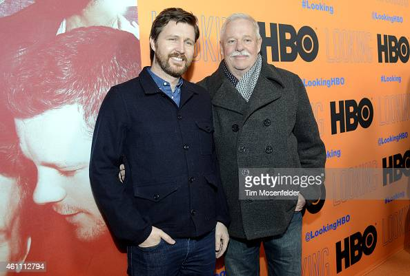 Andrew Haigh and Armistead Maupin pose at HBO's