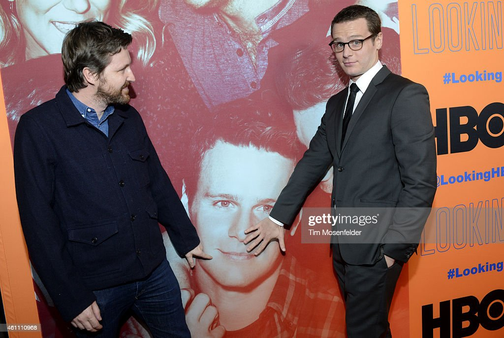 Andrew Haigh and Jonathan Groff pose at HBO's