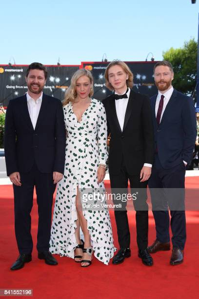 Andrew Haigh Chloe Sevigny Charlie Plummer and Tristan Goligher walk the red carpet ahead of the 'Lean On Pete' screening during the 74th Venice Film...