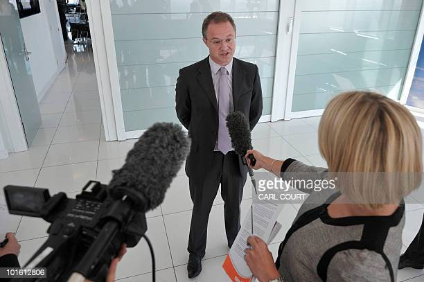 Andrew Haines Chief Executive of the British Civil Aviation Authority addresses the media in central London on June 4 2010 The press conference was...