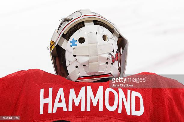 Andrew Hammond of the Ottawa Senators stretches prior to a game against the New Jersey Devils at Canadian Tire Centre on December 30 2015 in Ottawa...