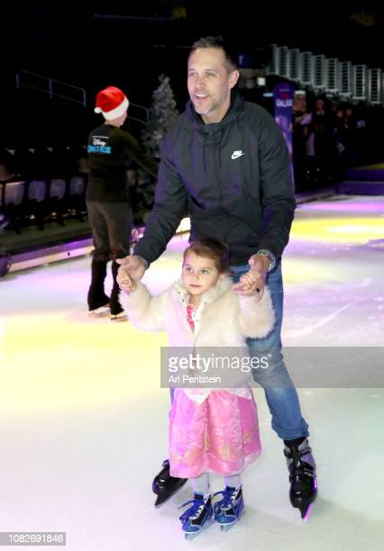 Andrew Harding attends Disney On Ice Presents Dare to Dream Celebrity Skating Party at Staples Center on December 14 2018 in Los Angeles California