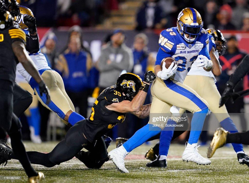 Hamilton Tiger-Cats v Winnipeg Blue Bombers : News Photo