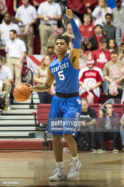 Andrew Harrison of the Kentucky Wildcats during their game against the Alabama Crimson Tide at Coleman Coliseum on January 17 2015 in Tuscaloosa...