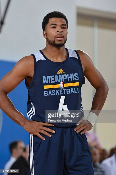 Andrew Harrison of the Memphis Grizzlies during the game against the Charlotte Hornets on July 5 2015 at Amway Center in Orlando Florida NOTE TO USER...