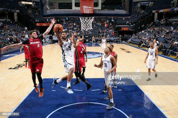 Andrew Harrison of the Memphis Grizzlies goes to the basket against the Miami Heat on December 11 2017 at FedExForum in Memphis Tennessee NOTE TO...