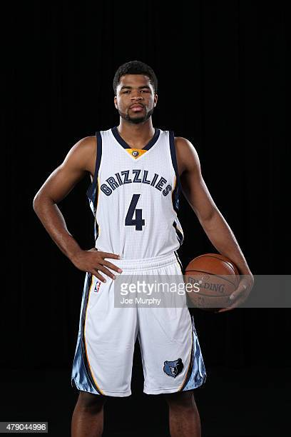 Andrew Harrison of the Memphis Grizzlies poses for a portrait on June 29 2015 at FedExForum in Memphis Tennessee NOTE TO USER User expressly...